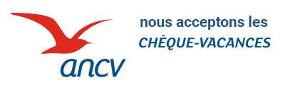 ANCV chèques vacances accpetés
